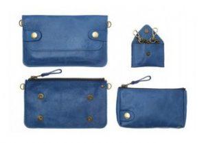 pochette bel air bleu cobalt galerie eber-specher-maroquineries