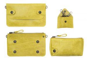 pochette bel air jaune galerie eber-specher-maroquineries