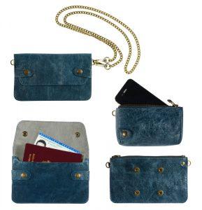 pochette bel air bleu canard -eber-specher-maroquineries