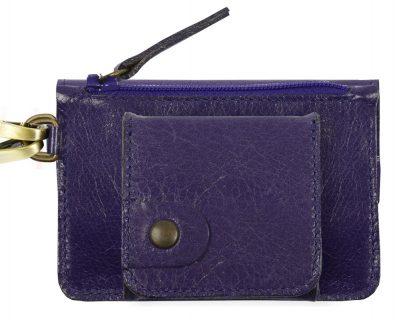 Porte monnaie cuir GAITY violet-eber-specher- maroquineries