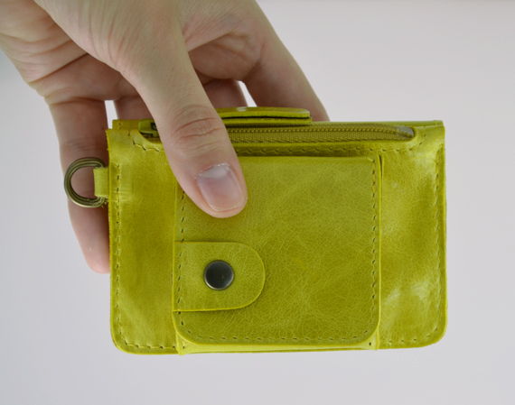 Porte monnaie en cuir GAITY