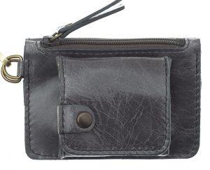 Porte monnaie cuir GAITY gris-eber-specher- maroquineries