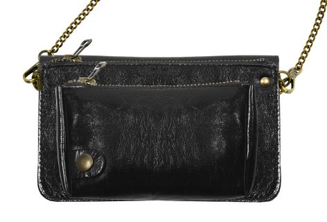 Pochette cuir BEL-AIR noir-eber-specher- maroquineries