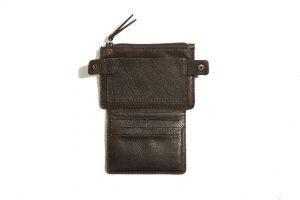Portefeuille-cuir-FLAT-marron mat-galerie-eber-specher-maroquineries