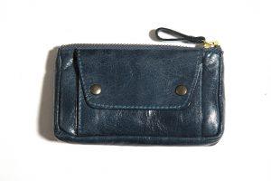 Porte-monnaie-cuir-taille-moyenne-bleu canard-galerie-eber-specher-maroquineries