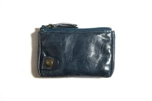 Porte-monnaie-cuir-taille-petite-bleu canard-eber-specher-maroquineries