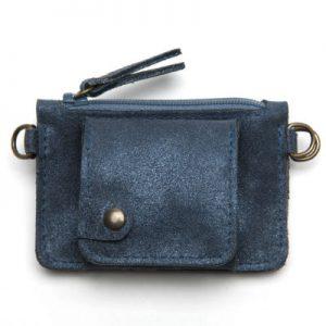 porte monnaie gaity bleu petrole paillete -eber-specher-maroquineries