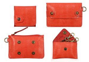 porte monnaie gaity rouge galerie-eber-specher-maroquineries