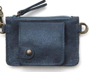 Porte monnaie cuir GAITY bleu petrole-eber-specher- maroquineries