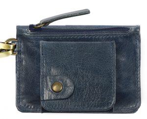 Porte monnaie cuir GAITY bleu canard-eber-specher- maroquineries