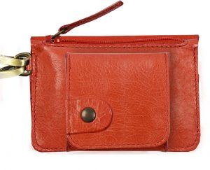 Porte monnaie cuir GAITY rouge-eber-specher- maroquineries