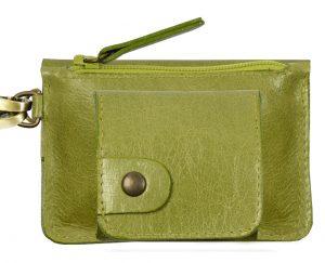 Porte monnaie cuir GAITY vert-eber-specher- maroquineries