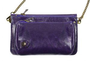 Pochette cuir BEL-AIR violet-eber-specher- maroquineries