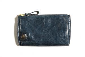 Porte-monnaie-cuir-taille-moyenne-bleu canard-eber-specher-maroquineries